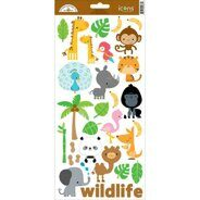 Наклейки At The Zoo Cardstock Stickers - Icons #1 от DOODLEBUG, 12*32 см