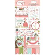 Чипборд на клеевой основе Faith Chipboard Stickers от Simple Stories, 15*30 см