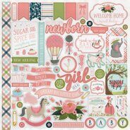 Наклейки Rock-A-Bye Baby Girl Cardstock Stickers, 30*30 см