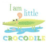 Термонаклейка I am a crocodile, 14 х 14 см