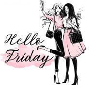Термонаклейка Hello friday, 14 х 14 см