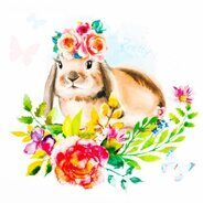 Термонаклейка Pretty rabbit, 14 х 14 см