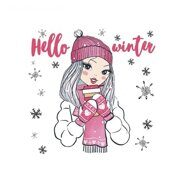 Термонаклейка Hello winter, 15 х 15 см